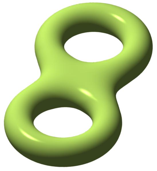 Genus 2 closed surface (double torus)