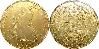Doubloon Two-escudo or 32-real gold coin