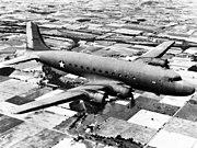 Douglas C-54 Skymaster in flight, circa in 1943