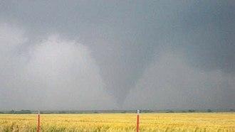 Tornado warning - A tornado in Douglas, Oklahoma, May 24, 2008.