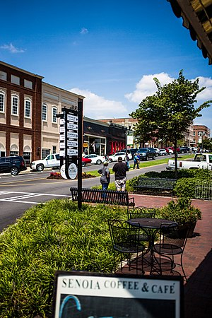 The Walking Dead (TV series) - Downtown Senoia, Georgia was used at the setting for Woodbury during Season 3.