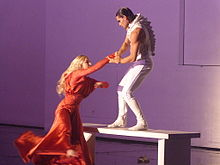 Picture of the Musical Dracula : Mina and Dracula(Nathalie Fauquette and Golan Yosef)