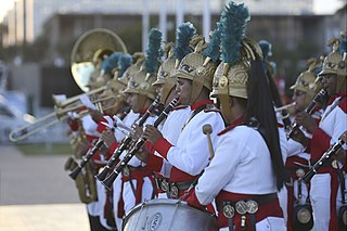 The Military Band of the Independence Dragoons (1st Cavalry Regiment), the official presidential band of Brazil and one of two senior bands under the Brazilian Army.