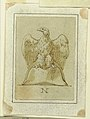Drawing, Project- Eagle displayed, with inverted wings, standing upon a French bicorne hat, ca. 1800 (CH 18546595).jpg
