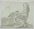 Drawing, Woman with Bellows Lighting Fire, late 18th century (CH 18126923).jpg