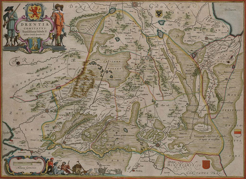 Drenthe door Cornelis Pijnacker-gehele-kaart