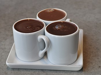 Drinking chocolate (not hot cocoa) at a cafe i...