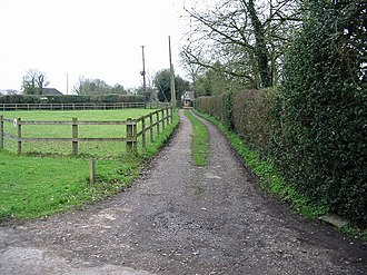 Anvil Green - Image: Driveway and footpath, Anvil Green geograph.org.uk 341891