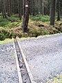 Droga między Orle i Wielką Izerą, drainage groove.jpg