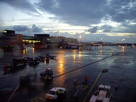 Dublin Airport all'alba