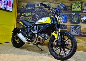 Ducati Scrambler (2015) - Image: Ducati Scrambler Icon 803 CC – Hamburger Motorrad Tage 2015 01