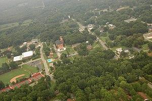 Due West, South Carolina - Aerial view of Due West