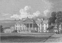 Duncombe Park  Black And White Painting