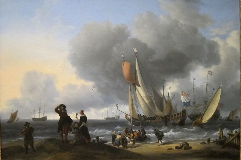 File:Dutchmen Embarking onto a Yacht by Ludolf Backhuysen (Dutch,, 1670s.jpg