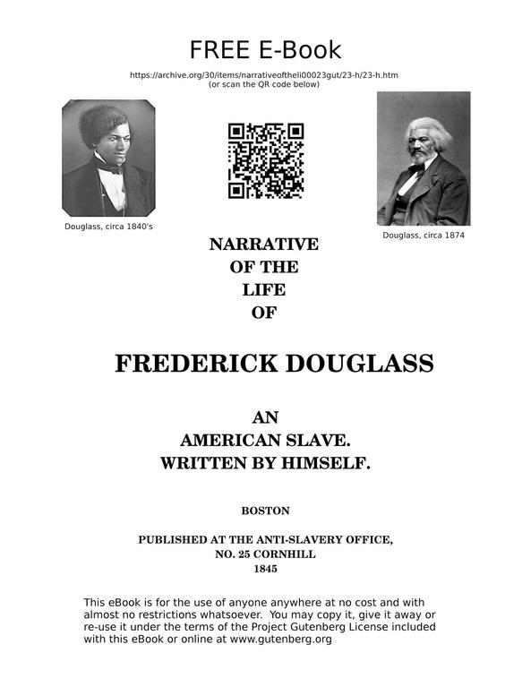 douglass virtues in narrative of the life of frederick douglass Narrative of the life of frederick douglass writing help by: frederick  in  relation to virtue 2 analyze douglass's treatment of christianity in the narrative.
