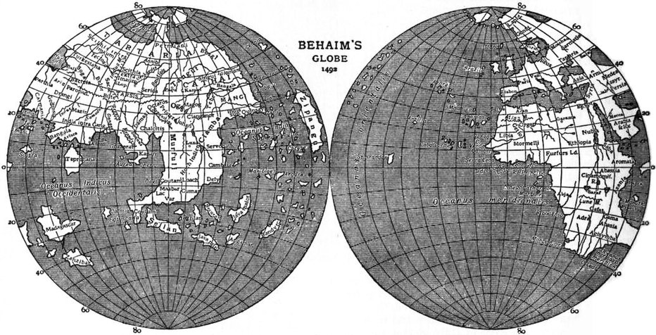 EB1911 - Map - Fig. 26 - Behaim's Globe, 1492.jpg
