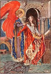 Elizabeth prayed to god to clothe her