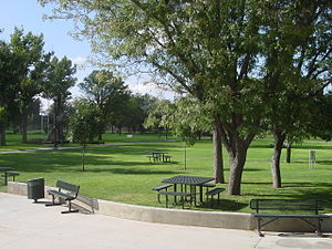 Eastern New Mexico University - A view of the main quad of ENMU.