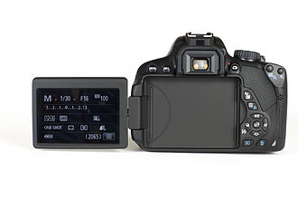 Canon EOS 650D - The articulated screen