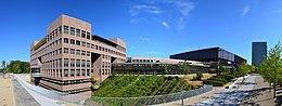Hoofdkantoor van het Hof van Justitie van de EU, panoramabeeld.