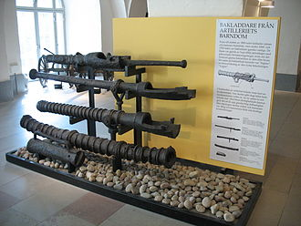 Breech-loading weapon - Early types of breech loaders from the 15th and 16th century on display at the Army Museum in Stockholm.