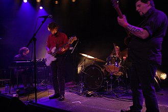 Earth (American band) - Earth performing live in Hamburg in 2009; from left to right: Steve Moore, Don McGreevy, Adrienne Davies and Dylan Carlson
