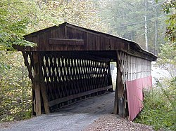 Oneonta is home to the Easley Covered Bridge, a county-owned, ۹۵-فوت (۲۹-متر) town lattice truss bridge built in 1927. Its WGCB number is 01-05-12.