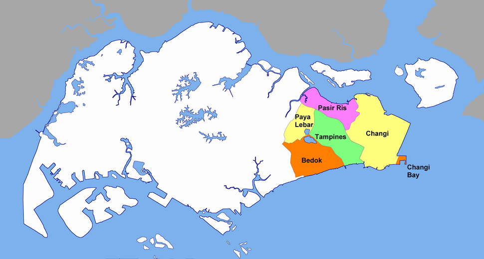 The East Region consists of six planning areas.