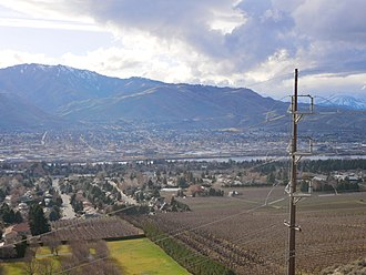 East Wenatchee, Washington - East Wenatchee Washington- looking NW, Columbia River in the valley below