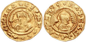 Aksumite currency - 5th-century gold coin of King Ebana.