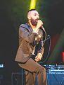 Edipo (singer) singing at the concert Bisbboccia Fest in Carnago (Va), 12-06-2015.jpg