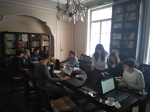 Edit-a-thon at Institute for the Protection of Cultural Monuments of Serbia 05.jpg