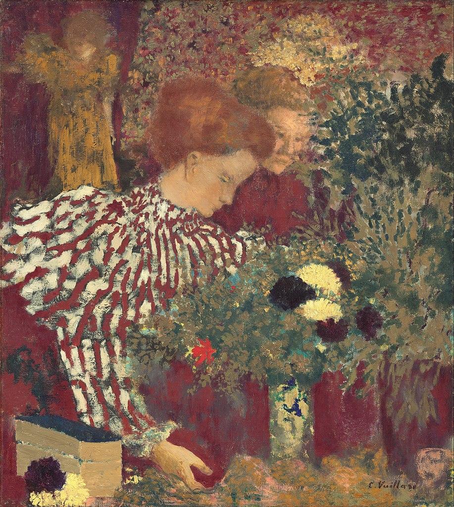 Édouard Vuillard, Woman in a Striped Dress,