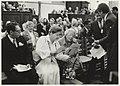 Een concert in de Grote of St. Bavokerk t.g.v. 75 jaar Frans Halsmuseum, in aanwezigheid van Prinses Juliana en burgemeester Schmitz. NL-HlmNHA 54023500.JPG