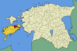 Orissaare Parish within Saare County.