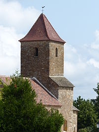 Eglise Saint-Maurice-des-Champs Clocher.JPG