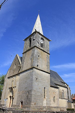 Amazy - The church of Saint-Franchy, in Amazy