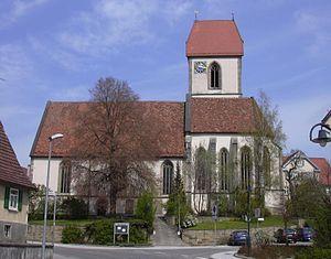 Ehningen - The Protestant Marienkirche in Ehningen