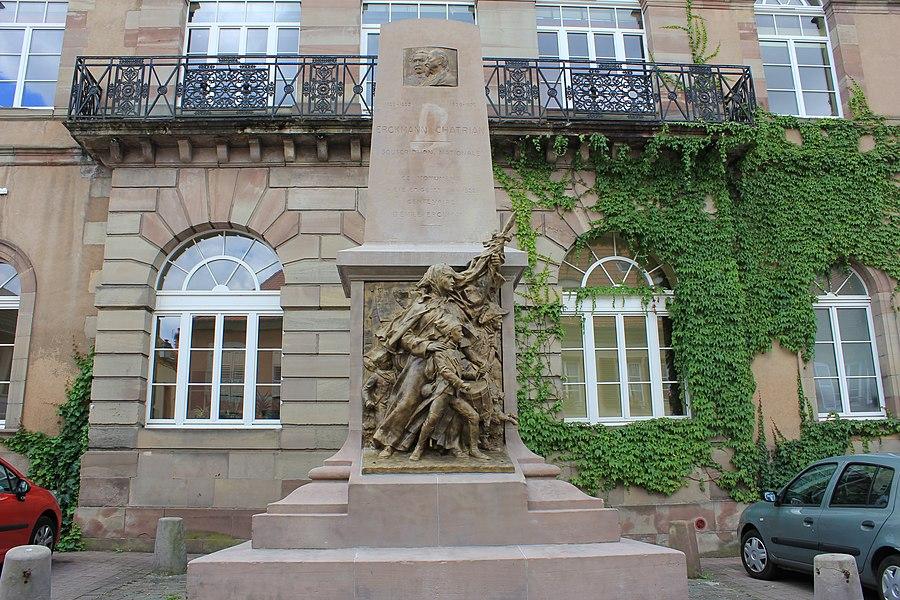 Ekckmann & Chatrian monument, Phalsbourg, Lorraine, France