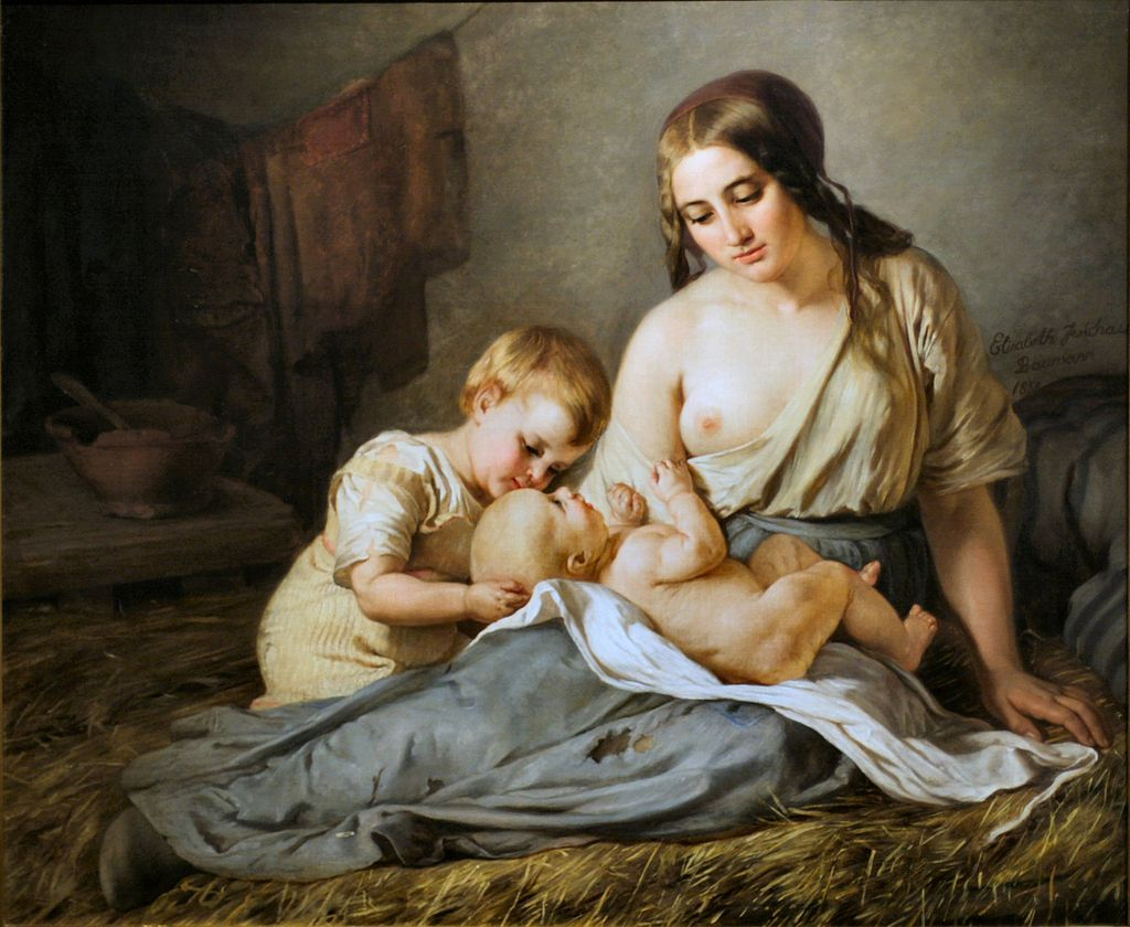 Элизабет Иерихау Бауманн Moderglæde 1858.jpg