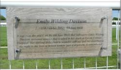 Photo of Emily Davison clear plaque