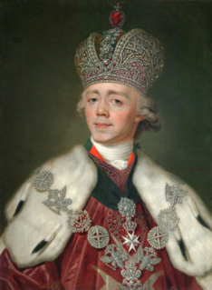 Paul I of Russia Tsar of the Russian Empire from 1796 until his assassination in 1801