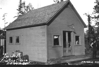 John Houston (newspaperman) - Empire newspaper office 1907
