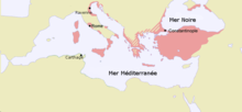 Carte de l'Empire byzantin