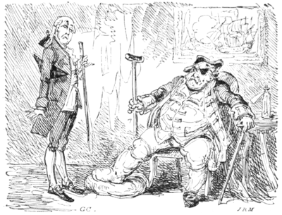 English Caricaturists, 1893 - The Old Commodore.png