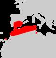 Eptesicus isabellinus range Map.png