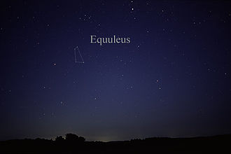 Equuleus - The constellation Equuleus as it can be seen by the naked eye.