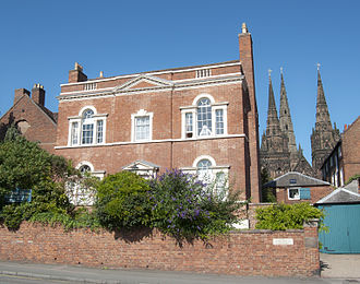 Erasmus Darwin - Darwin's House in Lichfield, now a museum dedicated to his life and work.