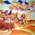 Erfolglose Belagerung von 1388 nach dem Sieg der Glarner bei Näfels, Spiezer Chronik des Diebold Schilling, 1484 - Stadtmuseum Rapperswil 2013-01-05 16-33-05 -ACD5-.JPG