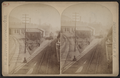 Erie Railroad yard, showing locomotive and switching yard, by W. L. Sutton.png